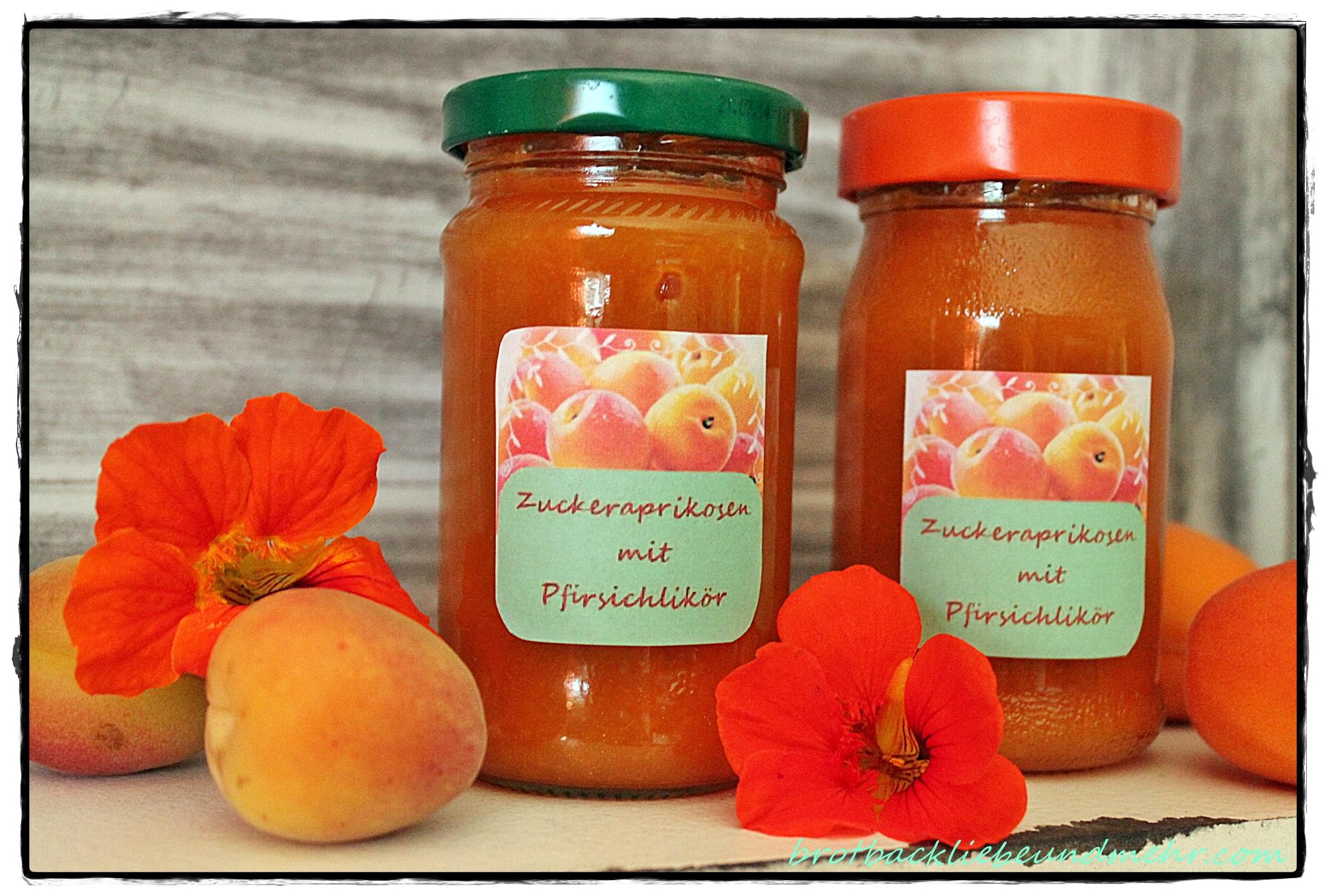 Zuckeraprikosen-Marmelade mit Pfirsichlikör